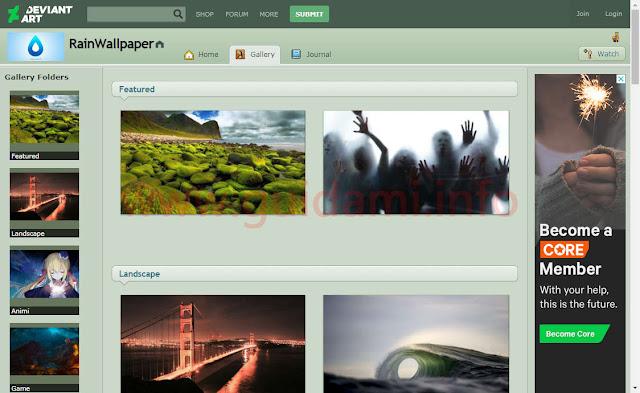 RainWallpaper - Gallery sezione Discover