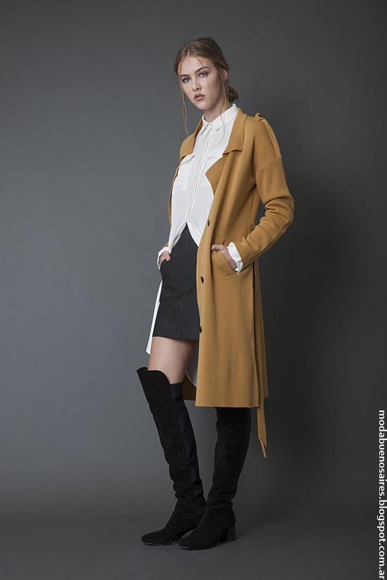 Sacos invierno 2016 ropa de mujer Bled. Moda invierno 2016.
