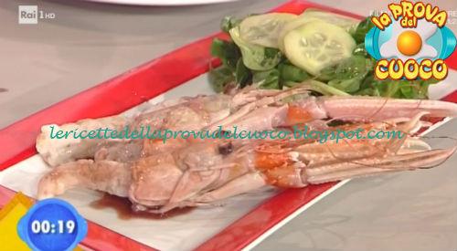 Scampo al Porto con insalata ricetta Ricchebono da Prova del Cuoco