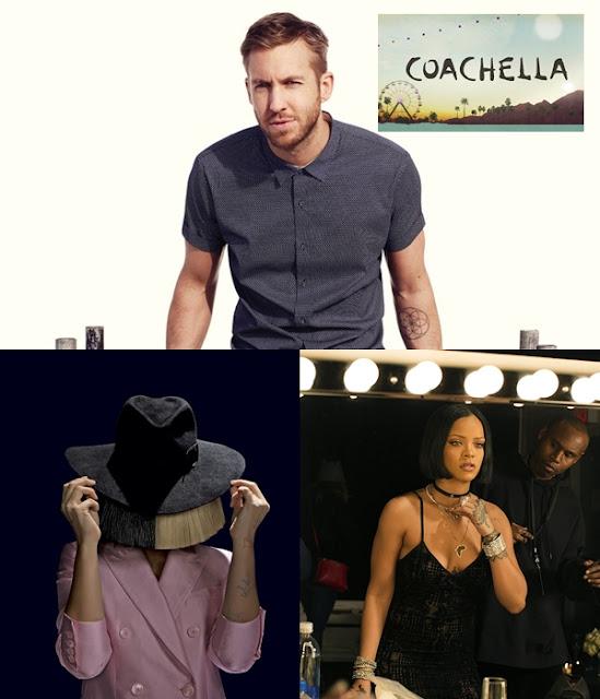 Sia y Calvin Harris con Rihanna se presentaron en Coachella
