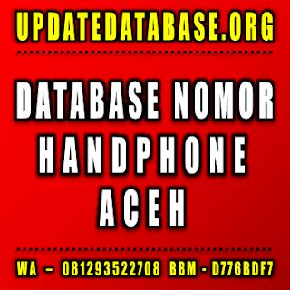 Jual Database Nomor Handphone Aceh