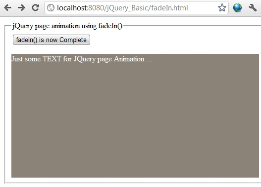jquery fadein effect example