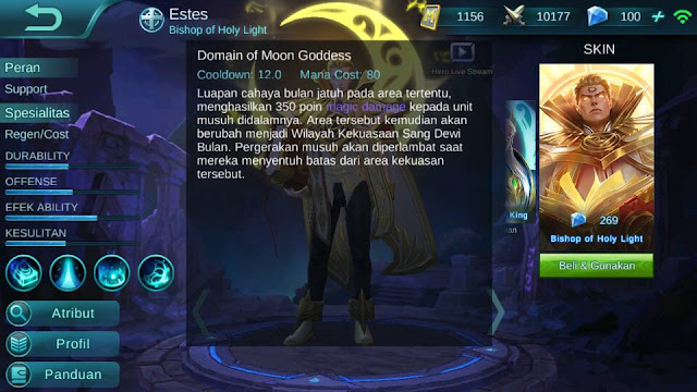 Estes, Jenis Hero Dalam Game Mobile Legends