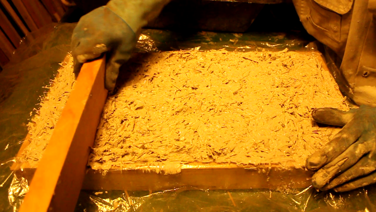 How to make a strawcrete pad - work in progress