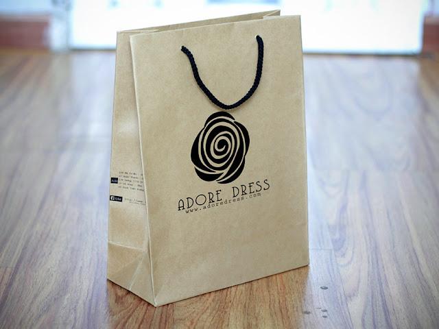 mẫu in túi giấy kraft đựng mỹ phẩm đẹp