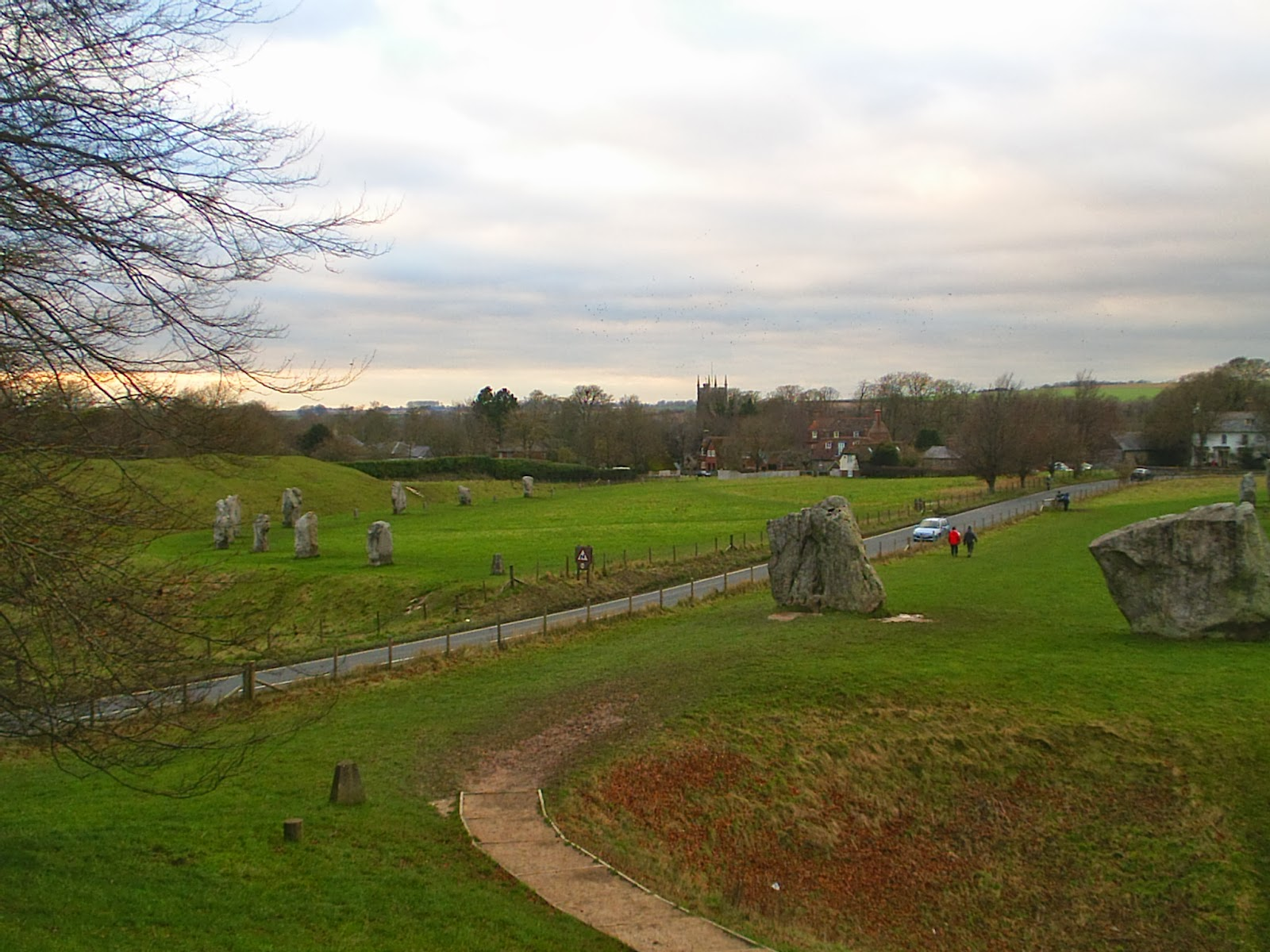 Avebury village within Stone circle