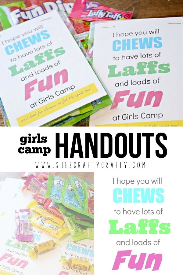 Girls Camp Treat Handout with free printable