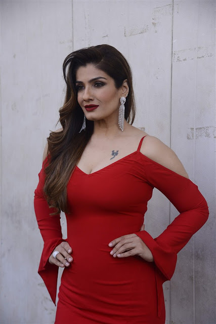 Actress Raveena Tandon Hot In Red Dress Photos 2017 | Actress Raveena Tandon very spicy photos 2017