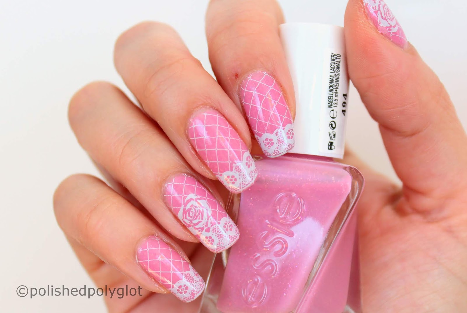Nail Art │ Pink and Lace Wedding manicure [26 Great Nail Art Ideas ...