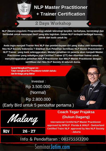 NLP Master Practitioner + Trainer Certification