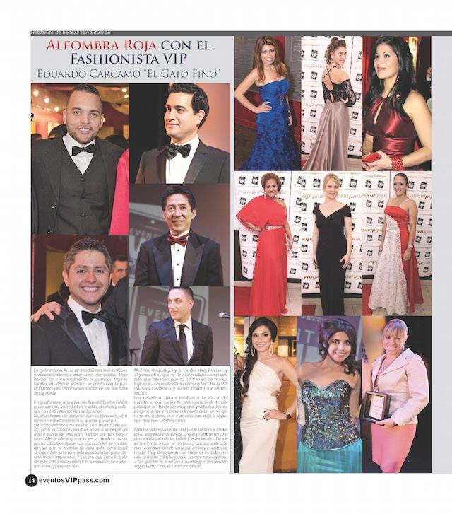 Revista Eventos VIP Pass- Marisol Flamenco - Hispanic VIP Gala-Mari Estilo