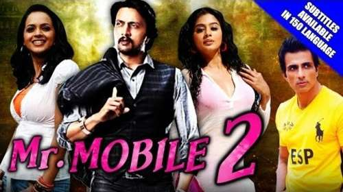 Poster Of Mr. Mobile 2 (Vishnuvardhana) 2016 Hindi Dubbed 350MB HDRip 480p Free Download Watch Online downloadhub.net