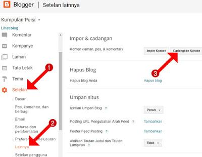 Cara Ekspor (Backup) Konten Artikel Blog di Blogger