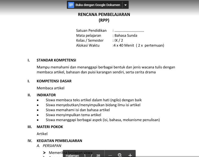 Rpp Bahasa Sunda Sd Kurikulum 2013 Ilmusosial Id