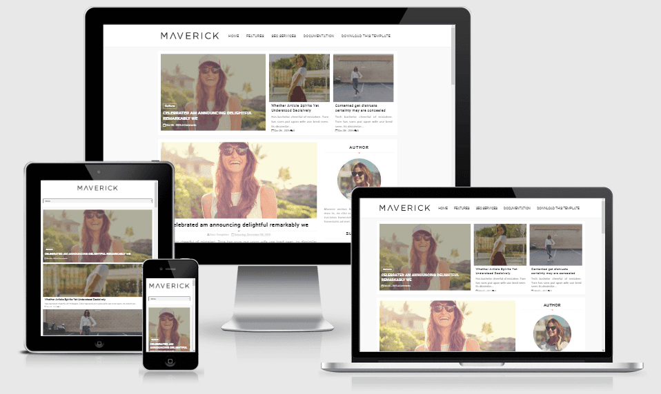 Maverick - Responsive Fashion Blogger Template