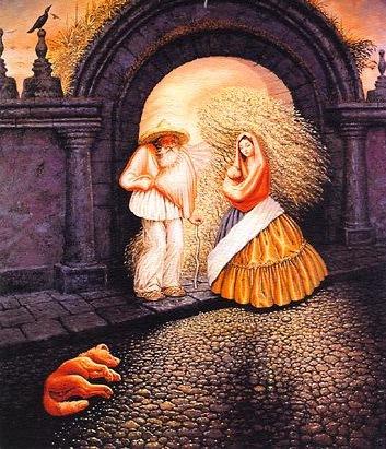 Homem, Mulher e Cão - Octavio Ocampo e Suas Pinturas Cheias de Ilusões