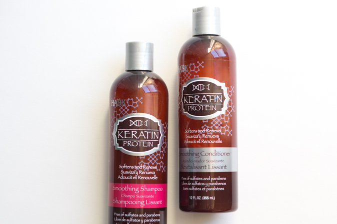 hask hair keratin protein and almond oil review