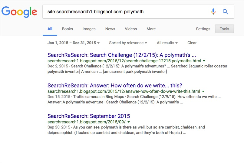 SearchReSearch: Search results sorted by date?