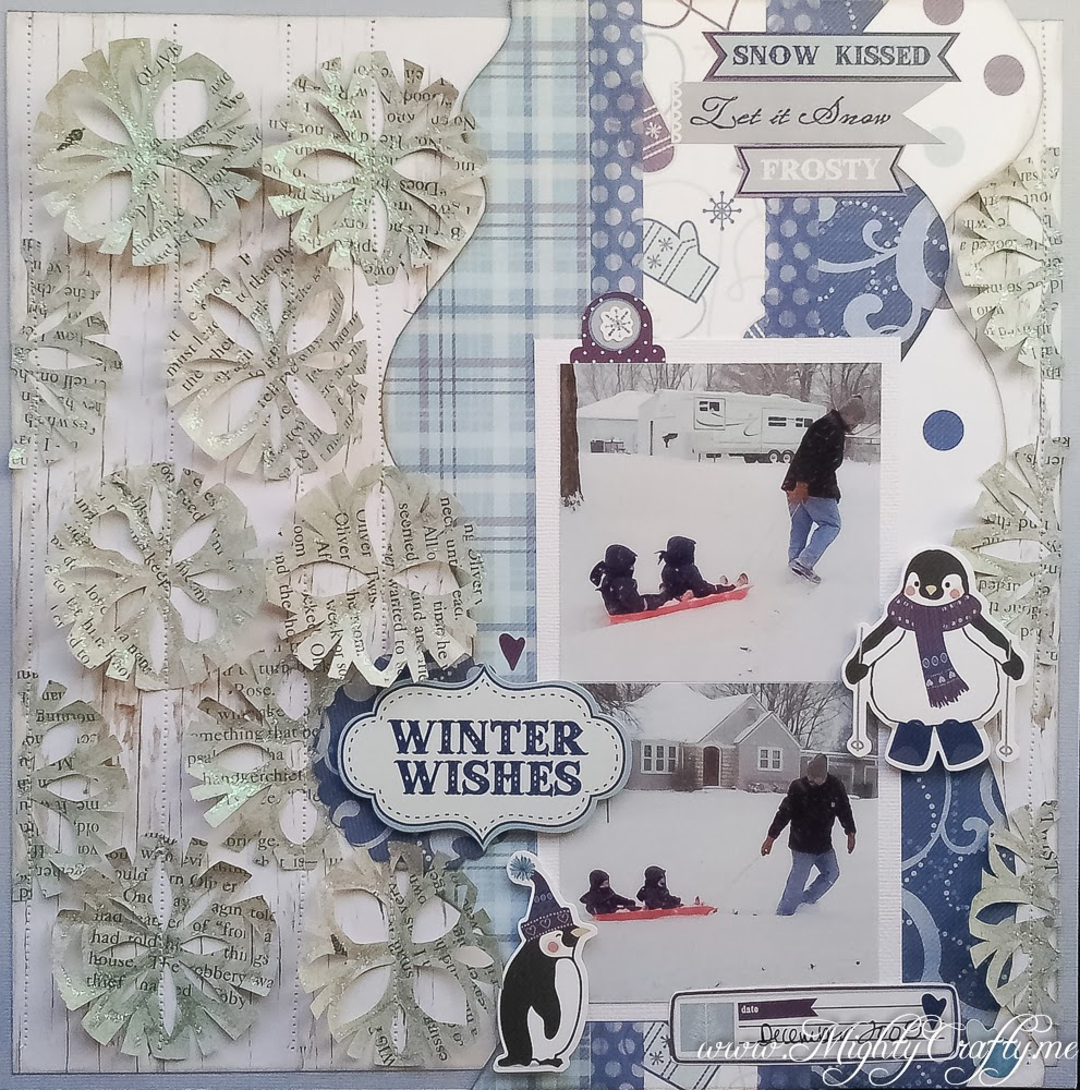 Winter Wishes layout for Practical Scrappers -- www.mightycrafty.me