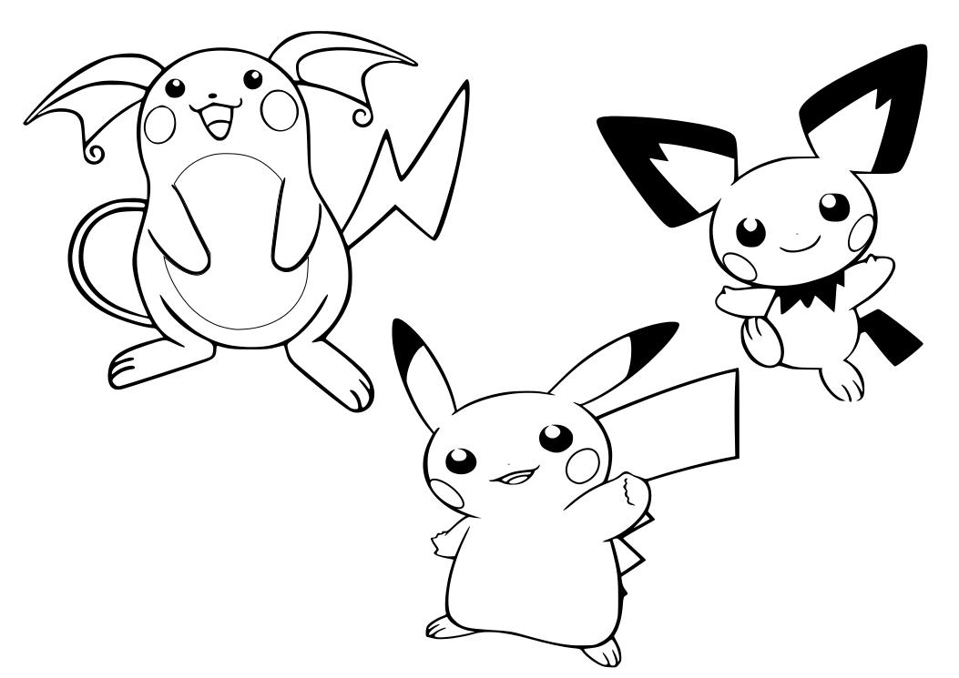 Dibujos Para Colorear Pikachu Pokemon: Dibujos Pikachu
