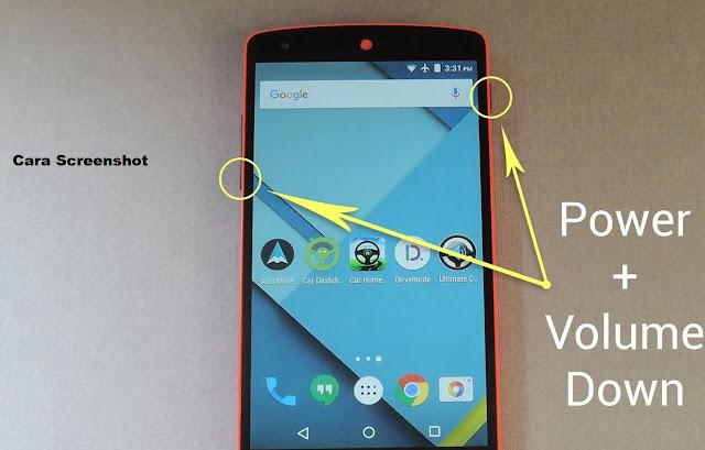 cara ambil gambar layar android