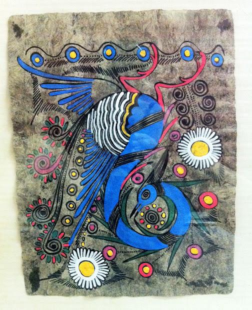 Mexican Folk Art Peacock