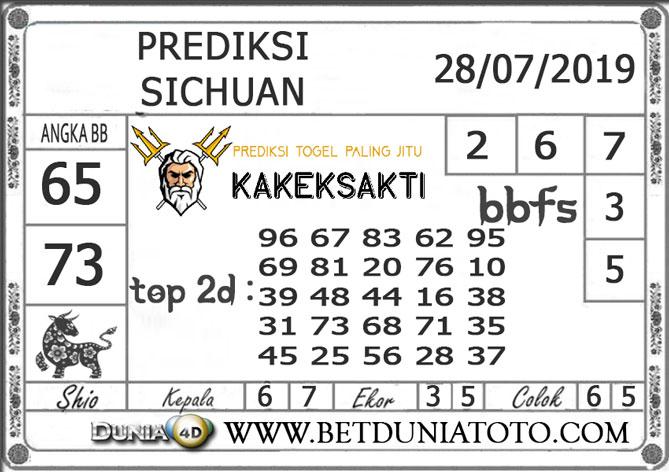 """Prediksi Togel """"SICHUAN"""" DUNIA4D 28 JULI 2019"""