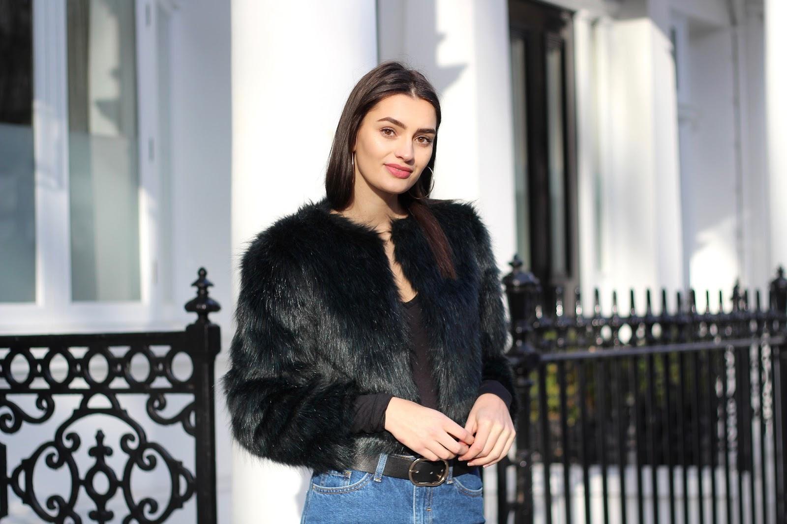 peexo winter style faux fur coat