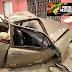 [VÍDEO] Em Picuí: Chevette carregado de telhas falta freio e atinge muro de residência no bairro JK