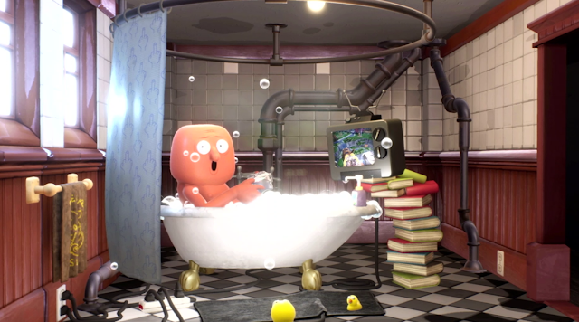 Sony PlayStation E3 2018 conference Trover Saves the Universe Rick & Morty bathtub guy