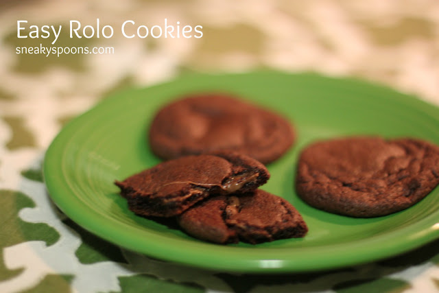 Easy Rolo Cake Mix Cookies | SneakySpoons