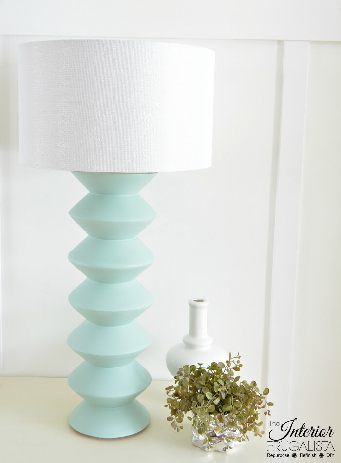 DIY Geometric Lamp From Repurposed Hourglass Wood Vases