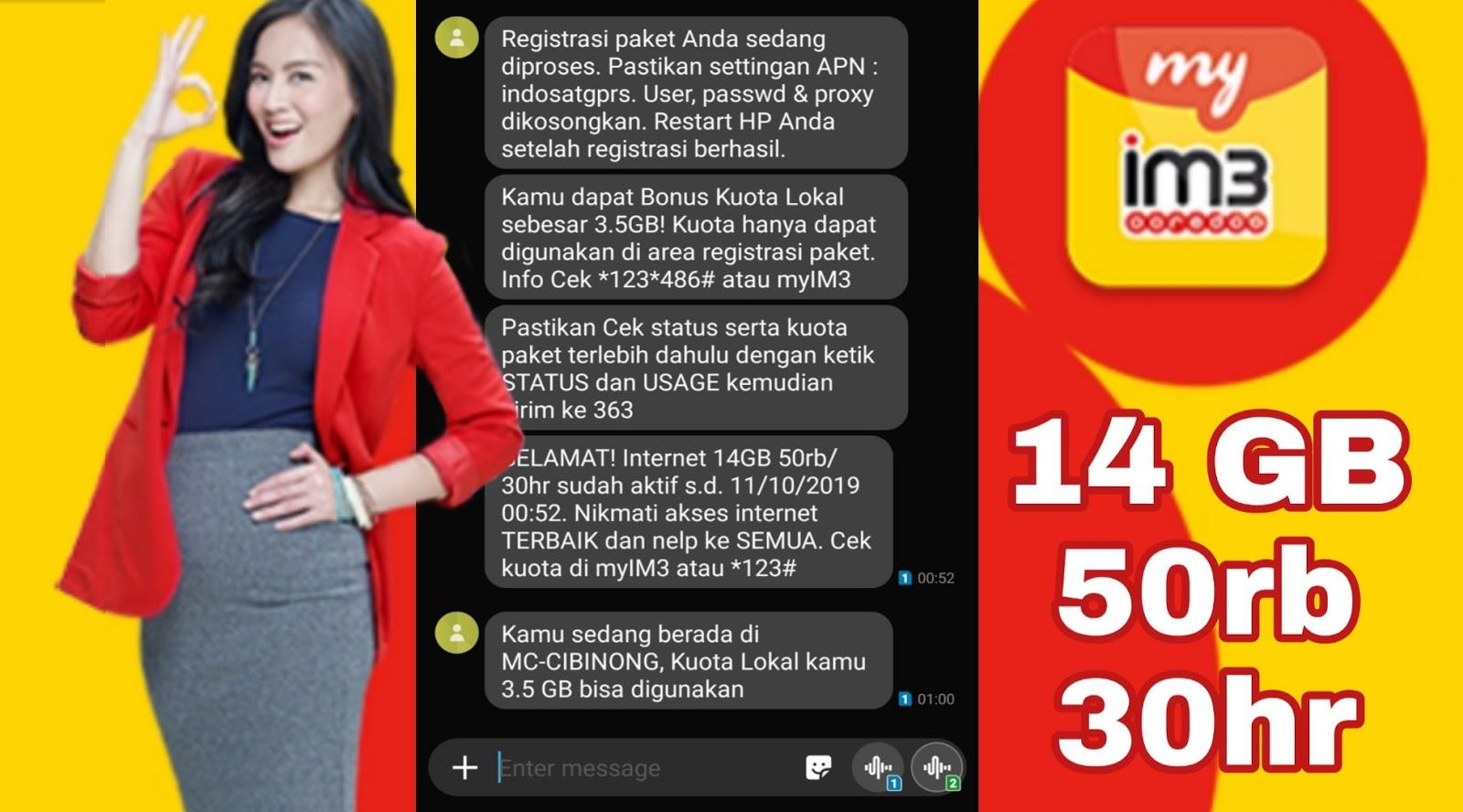 Aha Sarang Komputer 14 Gb Hanya 50000 Untuk 30 Hari Dari Indosat Im3