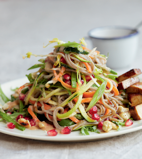 Noodle and Smoked Tofu Salad with Mirin Dressing