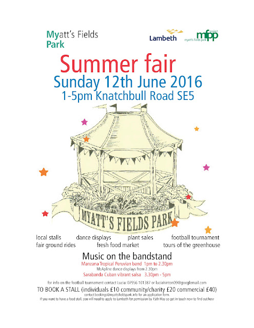 Myatts Fields Park Summer Fair 2016 flyer on vassallview.com