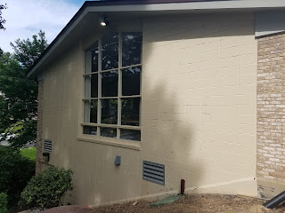 Power washed exterior of Little Falls Library