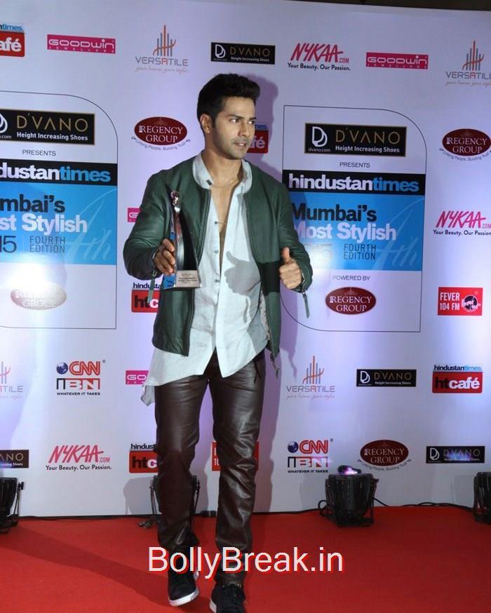 Varun Dhawan, Mumbai's Most Stylish Awards 2015 Full Photo Gallery