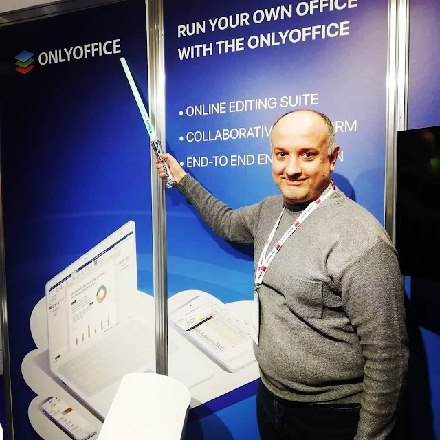 With my light sword at ONLYOFFICE booth