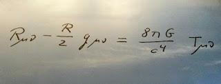 Ecuaciones de la teoria de la Relatividad General