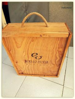 Caja de vino decorada Decoracin