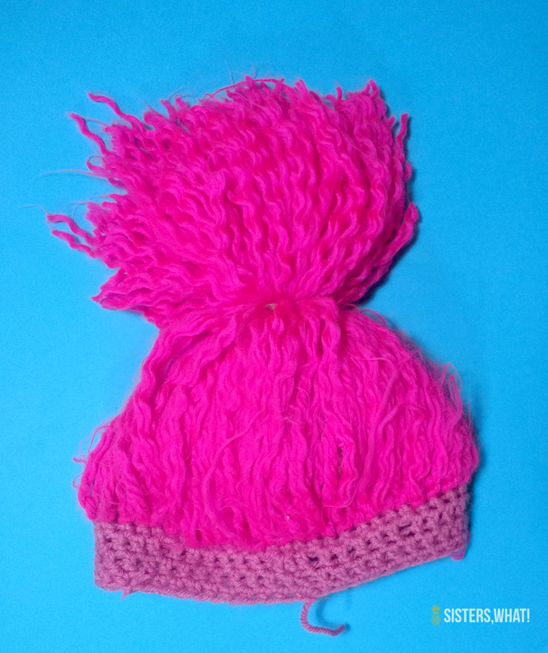 DIY Yarn Wig Troll Hair Crocheted Hat