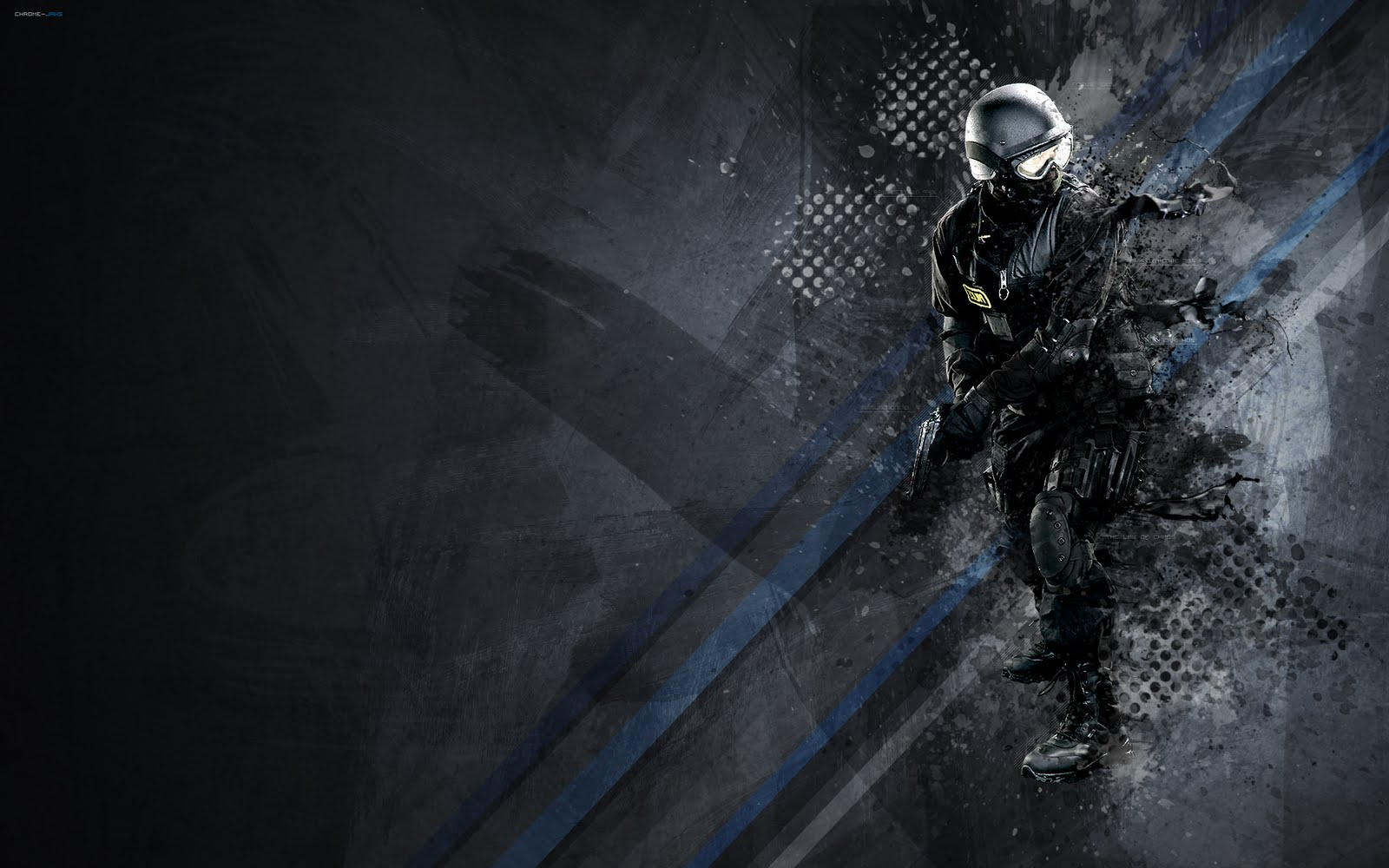 Police Abstract HD Wallpaper - Wallpapers For You | All the best wallpapers
