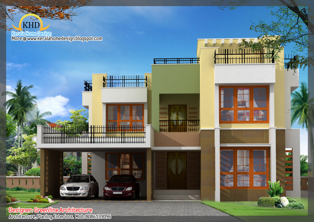 16 awesome house elevation designs kerala home design for Kerala 3d home floor plans