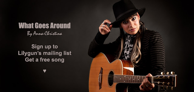 Anna-Christina from Lilygun - What Goes Around solo acoustic song promo