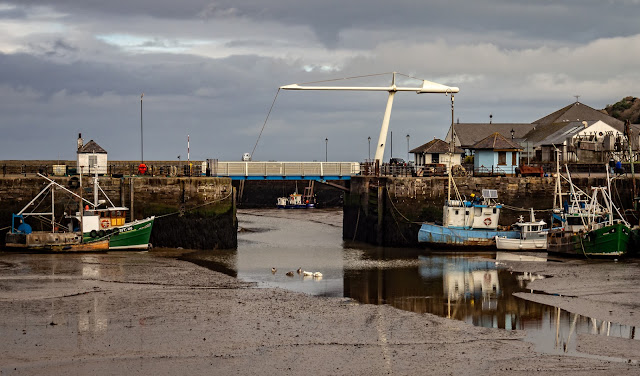 Photo of clouds over Maryport Harbour on Wednesday