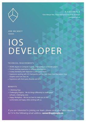 Lowongan iOS Developer Eyesimple