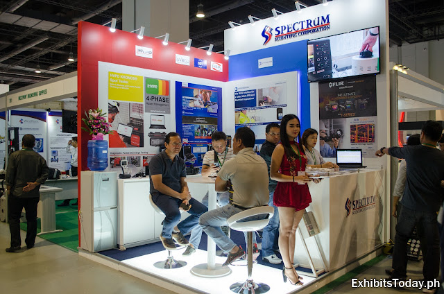 Spectrum exhibit booth