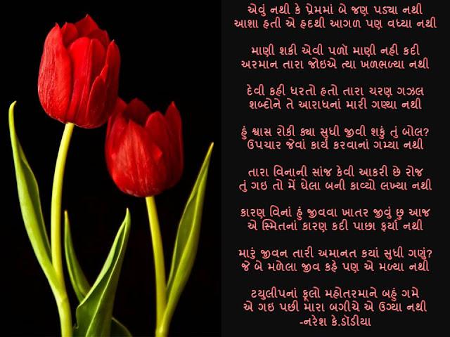 एवुं नथी के प्रेममां बे जण पड्या नथी Gujarati Gazal By Naresh K. Dodia