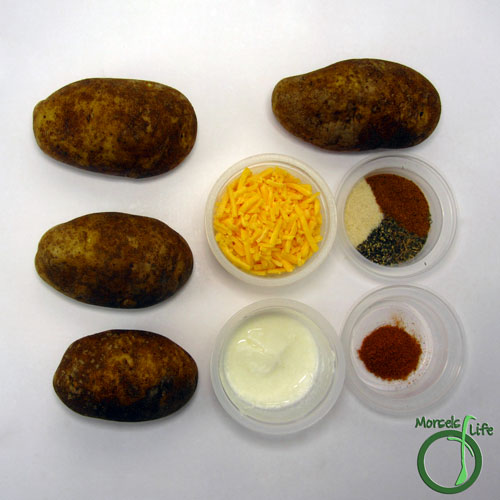 Morsels of Life - Twice Baked Potatoes Step 1 - Gather all materials.