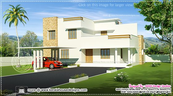 Contemporary white home design